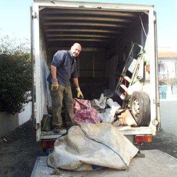 Ce Dimanche nettoyage Vide Sanitaire au Centre Ville de Perpignan 800 kg de tout venant pour Déchetterie